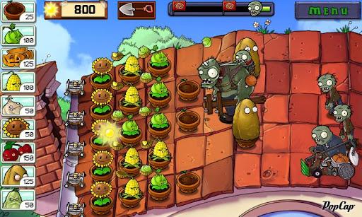 Из особенностей игры plants vs zombies стоит