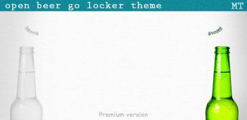 Open Beer Go Locker theme