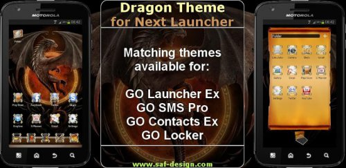 Next Launcher Dragon Theme - Драконы