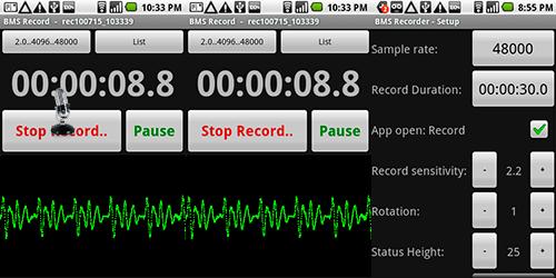 BMS Recorder - Диктофон который записывает в WAV