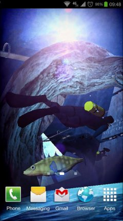 Atlantis 3D Pro Live Wallpaper - Морские обои с Атлантидой