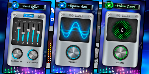 Эквалайзер, усилитель баса и усилитель громкости для Андроид